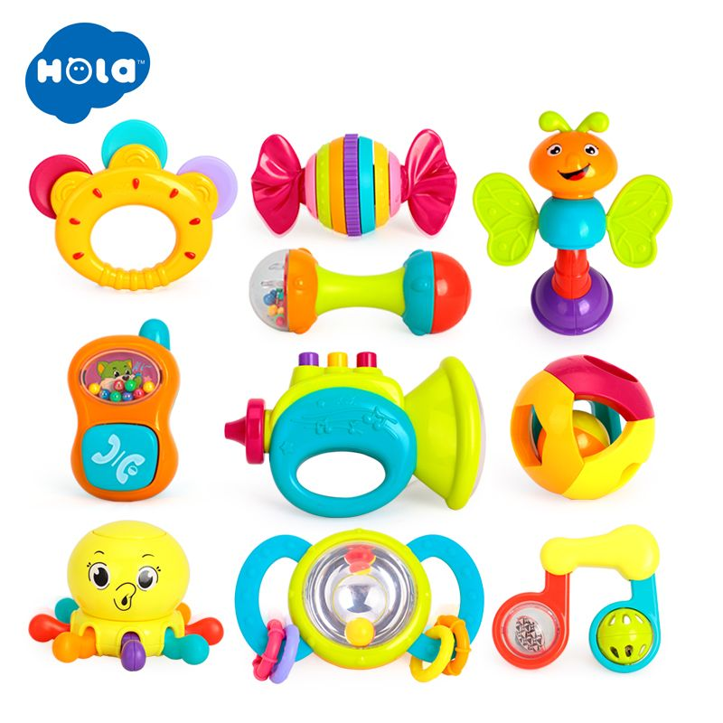 Baby Toys Animal Hand Bells Baby Rattle Ring Bell Toy Newborn Infant Early Educational Doll Gifts brinquedos 0-12 month