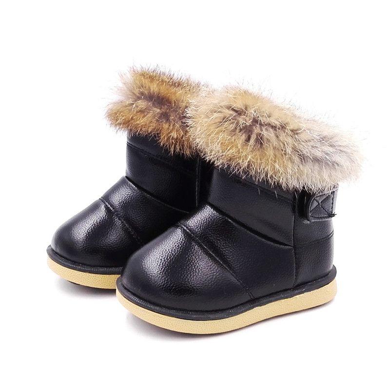 Confortable Enfants Boot Enfant Chaussures Pour Filles Neige Bottes Chaussures Semelle En Caoutchouc Bébé Filles de Neige En Plein Air Coton Chaussures En Peluche Cheville bottes Fille
