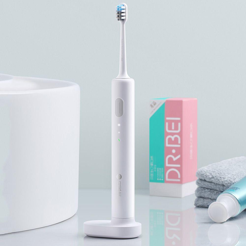 Xiaomi Mijia brosse à dents électrique sonique Rechargeable Étanche Électrique très léger Brosse À Dents Avec 2 Têtes de Brosse