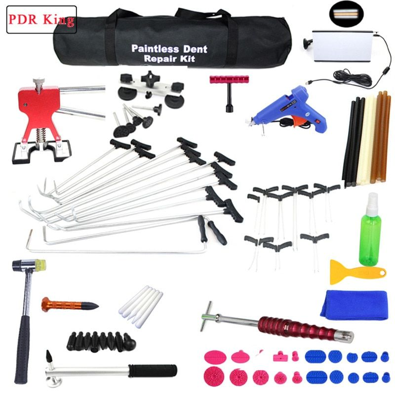 Paintless Dent Repair Tools PDR Tools Kit Hail Damage Removal Car Ding Dent Repair Rod Hook PDR Rods Dent Remover Tools