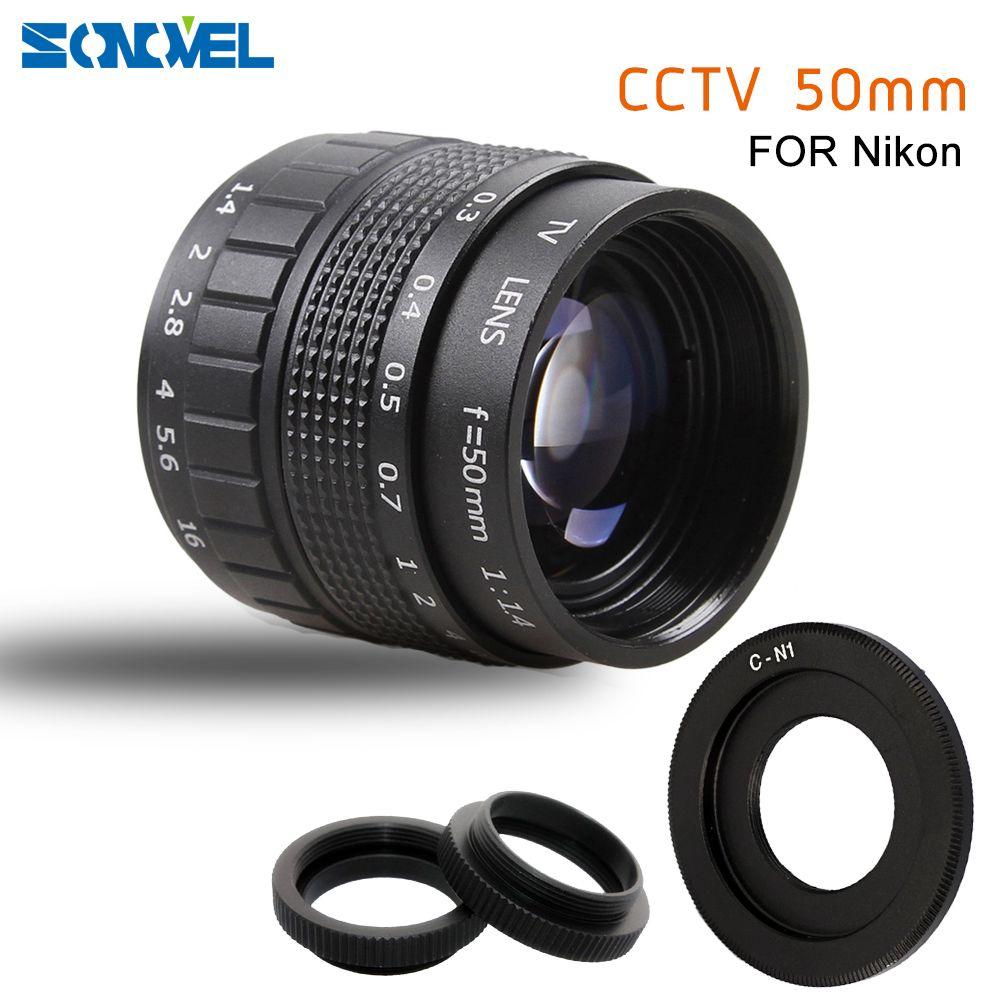50mm F1.4 CCTV TV objektiv Film + C-mount + Macro ring für Nikon 1 AW1 S2 J4 J3 J2 J1 V3 V2 V1 mirrorless Kamera C-NI