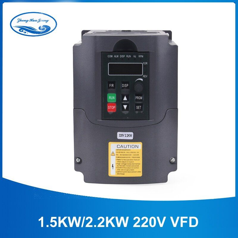 2.2kw Inverter HJ 220v 2.2kw VFD Variable Frequency Drive VFD Inverter 400Hz 10A VFD Inverter 1HP Input 3HP frequency inverter
