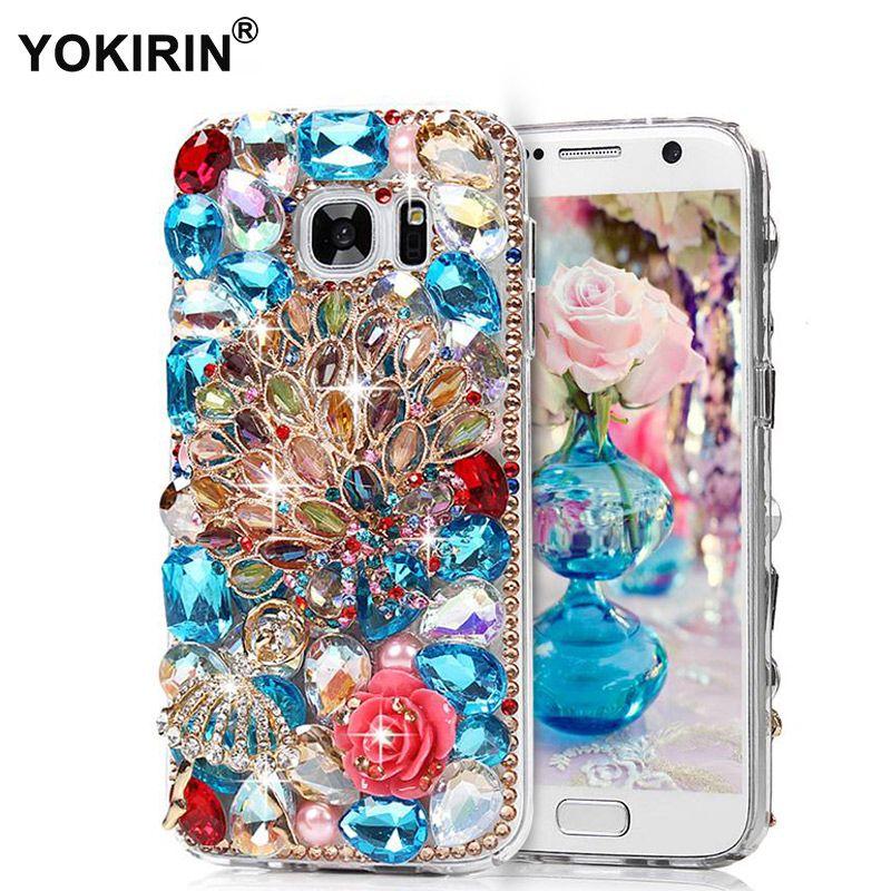 YOKIRIN Pour iPhone 6 Strass Cas Nouveau Diamant Magnifique Clair De Protection Shell Bling Dur PC Couverture Arrière Pour iPhone 6 Téléphone Sac