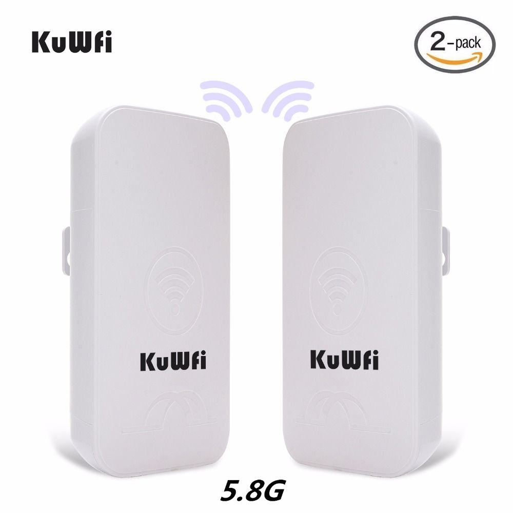 2PCS KuWFi 1-3KM 300Mbps Outdoor CPE Router 5G Wireless Access Point Router Wifi Bridge Wi-fi Extender CPE Router With 24V POE