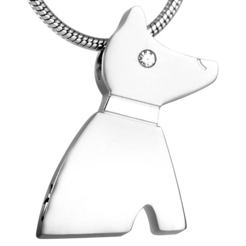 Crystal Eye Dog Shape Pet Urn Peaceful Memorial Keepsake Dog Urn  Small Animal Urn Pendant Necklace For Love Pet Ashes