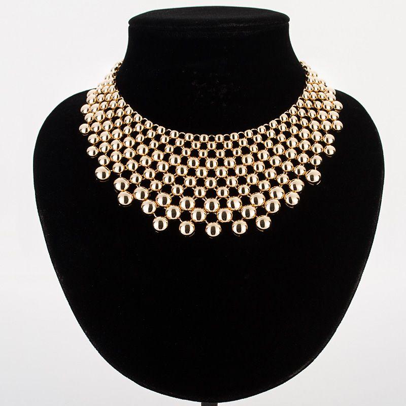 Hyperbole balles colliers amp pendentifs pour femmes or/argent couleur en alliage de zinc femme collier ras du cou collier femme MDJB159