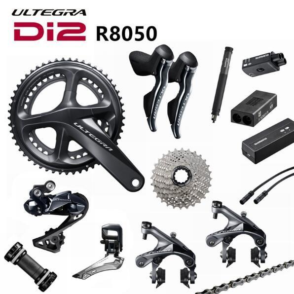 Shimano Di2 Ultegra R8050 50/34 T 53/59 T 165/170/172,5/175mm 2*11 22 Geschwindigkeit rennrad fahrrad groupset Fahrrad Teile Update R8000