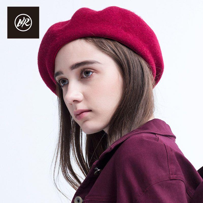 VIS ROCA 2017 Nuevos Sombreros de La Boina De Lana de Las Mujeres Sombrero de La Boina otoño Invierno Lolita Señoras Sombreros Boinas Gorra Plana Sombreros de Invierno Para mujeres