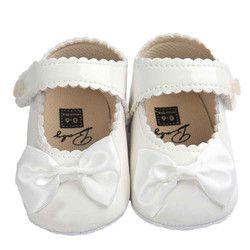 Niña Zapatos Bowknot cuero 5 color zapatos antideslizantes zapatillas suela suave Zapatos Niño 0-12 mes nave de la gota