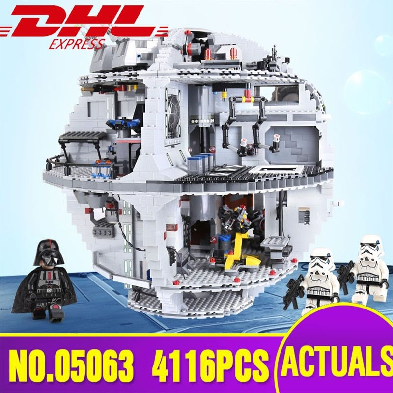 DHL Lepin 05063 4016pcs Star Plan Series Wars Death Star Building Block Bricks Toys Kits Compatible Legoing 75159 Christmas Gift