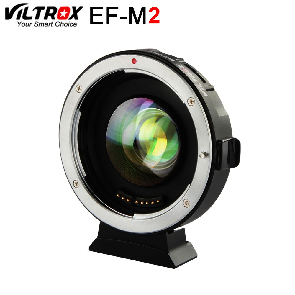Viltrox EF-M2 AF EXIF 0.71X Reduce Speed Booster Lens Adapter Turbo for Canon EF lens to M43 Camera GH4 GH5 GF6 GF1