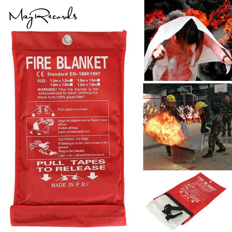Free Shipping 1MX1M Fire Blanket Emergency Survival Fire Shelter Safety Protector Fire Extinguishers <font><b>Tent</b></font>