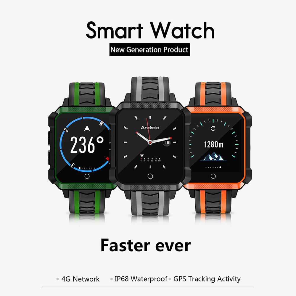 H7 Smart Watch Phone 4G Android 6.0 1G+8G WiFi GPS SIM Sport Smartwatch 5.0 MP Camera Voice Translate Wristwatch Men Women