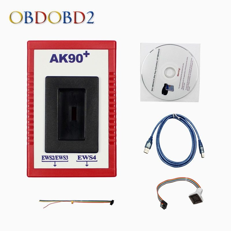 Newest AK90 For BMW AK90+ Auto Key Programmer For BMW EWS From 1995-2009 V3.19 AK90 Key Programmer Free Shipping