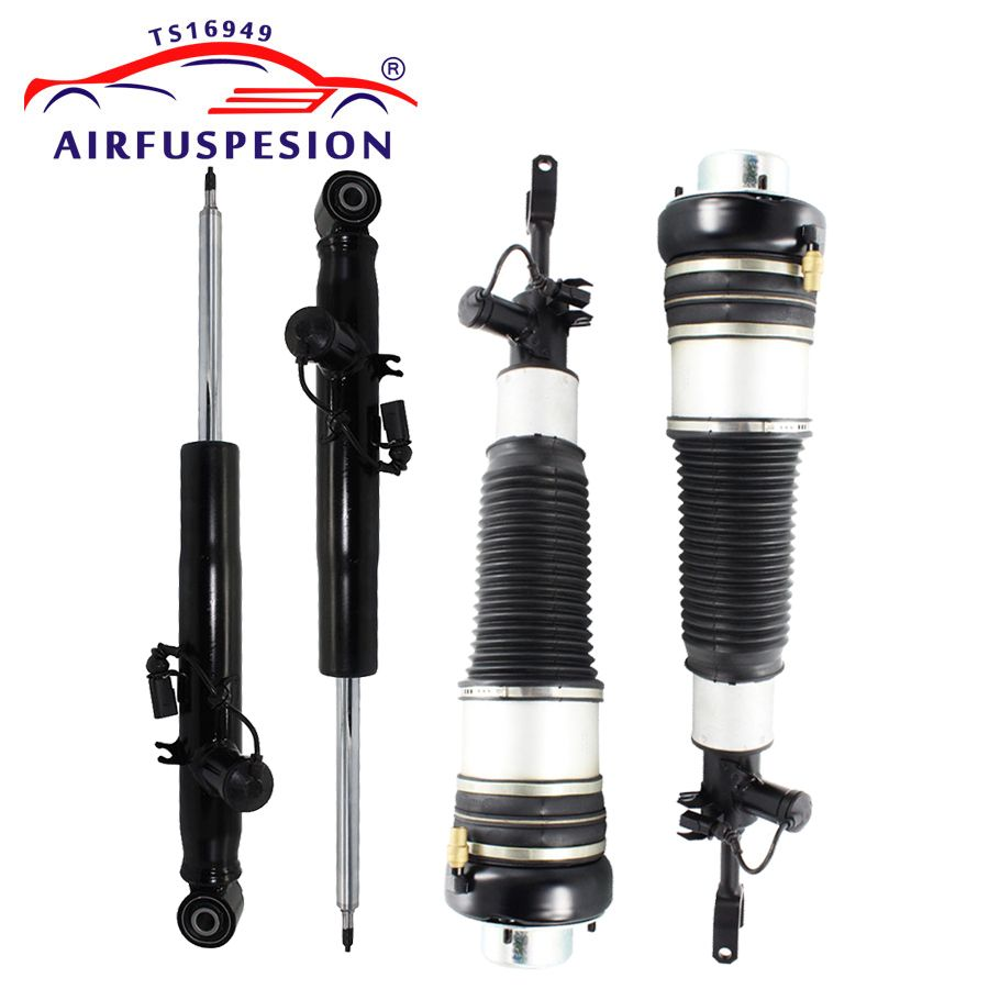 4Pcs For Audi A6 C6 4F Front Rear Air Suspension Shock Strut Air Spring 4F0616039AA 4F0616040AA 4F0616031K 2005-2011