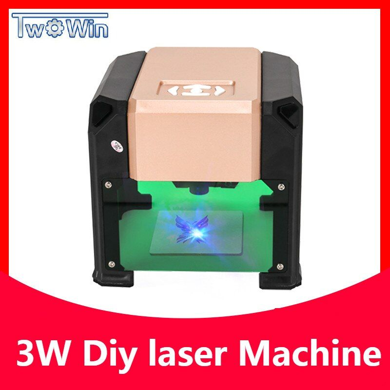 3000mw Automatic Type High Speed Laser Engraving Machine USB DIY Carving Handicraft Wood Engraver