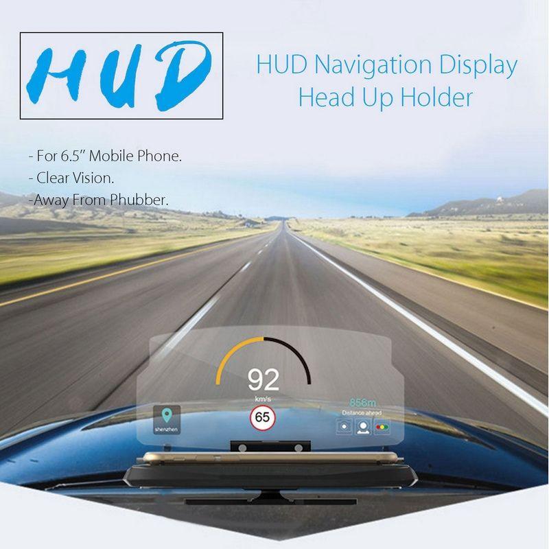 MAYITR 6.5 inch Screen Head Up Display Phone Holder Car Auto GPS Navigation Mobile Phone Holder HUD Head Up Display Projector