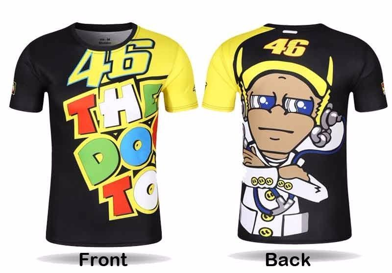 2017 NEW Motorcycle VR46 Rossi Printing T-shirt Motorbike sport casual t-shirt MOTOGP vr 46 The Doctor quick-dry Jersey