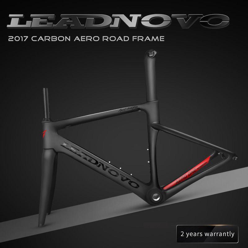 2018 NEW carbon fiber road frame Di2&Mechanical racing bike carbon road frame+fork+seatpost+headset carbon road bike LEADNOVO