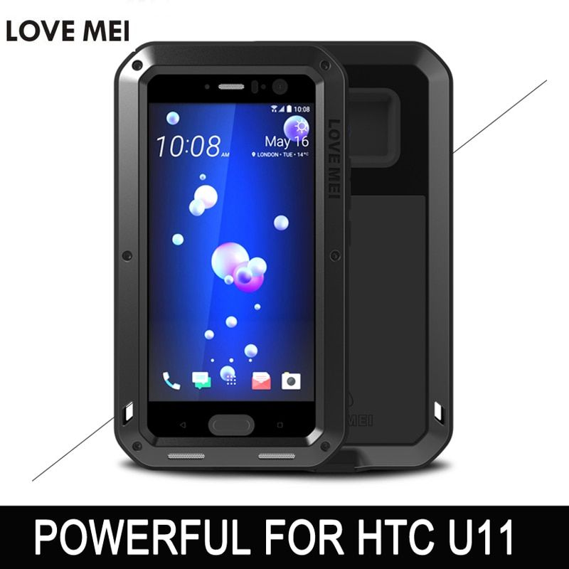 LOVE MEI POWERFUL case For HTC U11 phone case For HTC U11 5.5 inch anti-knocked Aluminum case free shipping