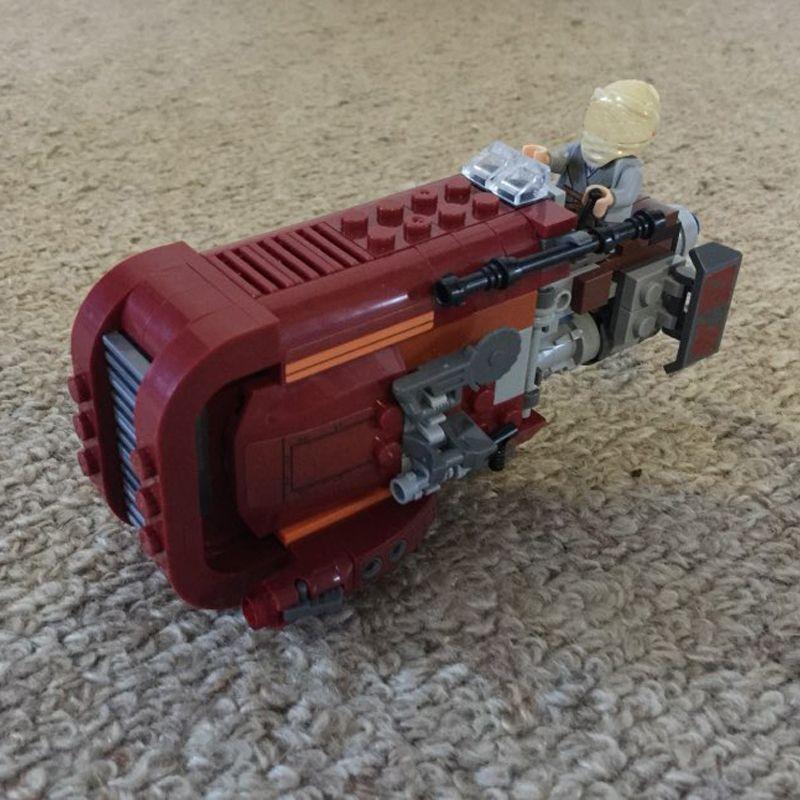 05001 206 pcs Étoiles L'espace Guerres Rey de Chariot Building Briques Blocs Ensemble Jouets Compatible 75099 Starwars Speeder
