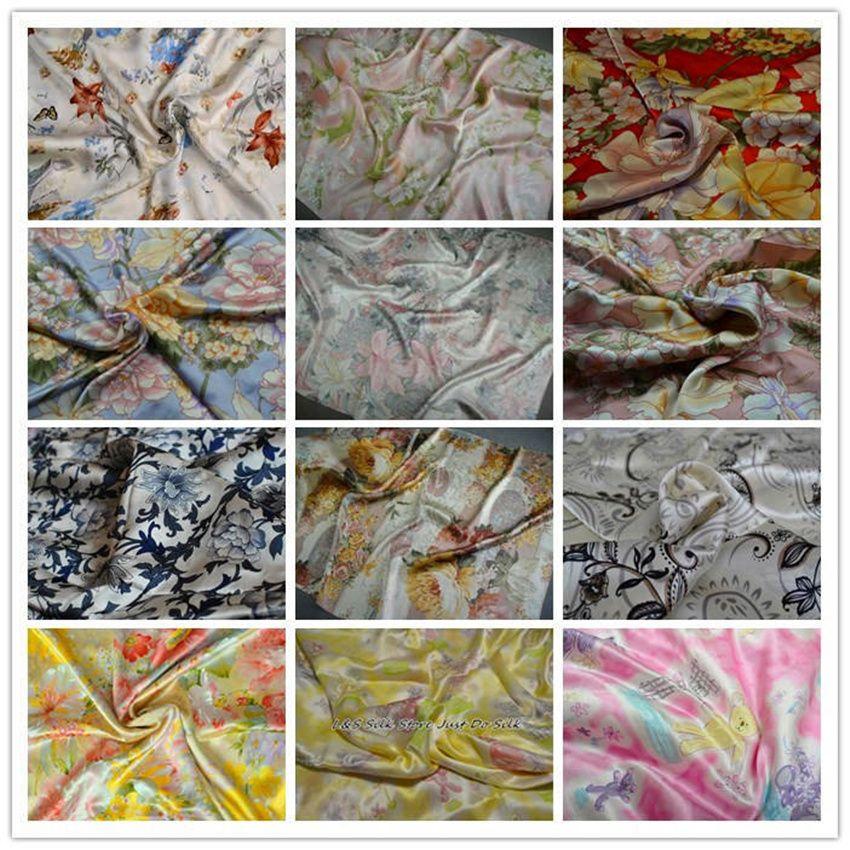 2015 livraison gratuite nouveau 100% mûrier soie tissu charmuse soie imprimé plaine scraf robe ensemble de literie beaucoup de couleurs SCF-AP