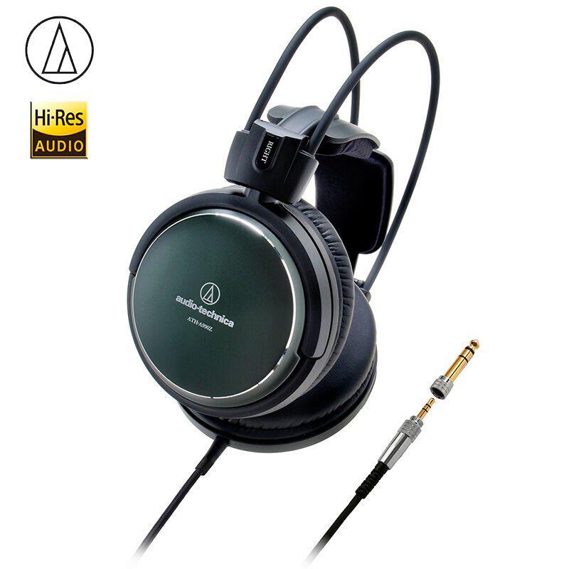 Original Audio-Technica A990Z Kunst Monitor Headsets HiFi Kopfhörer Geschlossen-Zurück Dynamische Professionelle Kopfhörer Tiefe Bass Sound