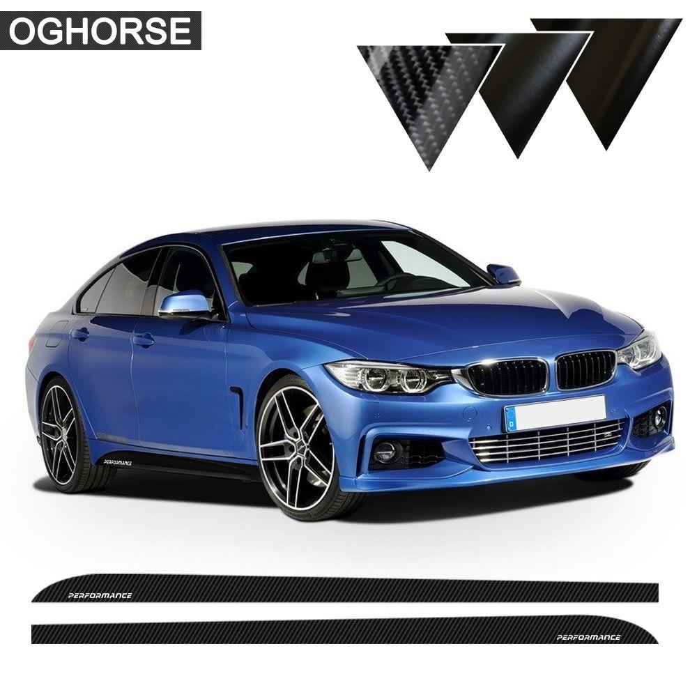 5D Carbone Nouveau M Performance Rebord Côté Rayures Jupe autocollants pour BMW 3 5 Série F30 f31 x5 f15 f10 f11 e60 e61 f22 f23 e90 f32