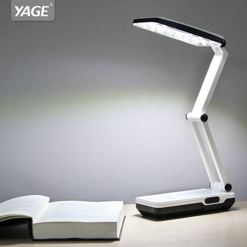 YAGE 5913C Desk Lamp Night Light LED Table Lamp reading books desk light usb Foldable 3-layer body 21 pcs SMD USA/EU/UK Plug