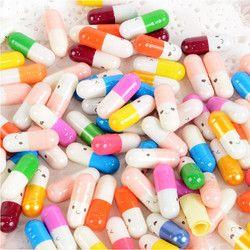 Decoración colorida vacía cápsulas vacías de gelatina dura amor cápsulas 200 piezas mucho