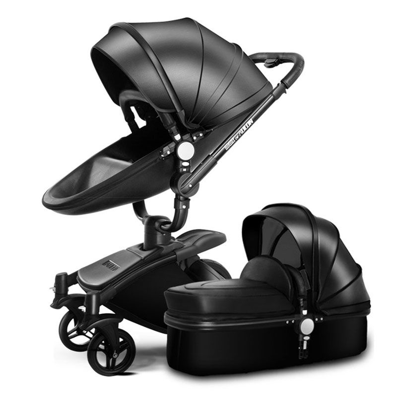 Aulon baby stroller free shipping leather Luxury baby stroller 2 in 1 fashion stroller European stroller for lying and seat bra