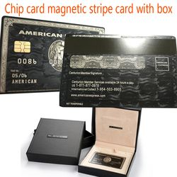 Chip card magnetic stripe card with the box American Express card cardka custom personalized free shipping