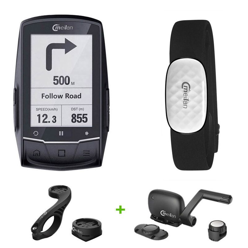 Bluetooth GPS Fahrrad Computer IPX6 Wasserdichte Fahrrad GPS Computer Road Karte GPS Navigation Kilometerzähler Bewegung Tacho
