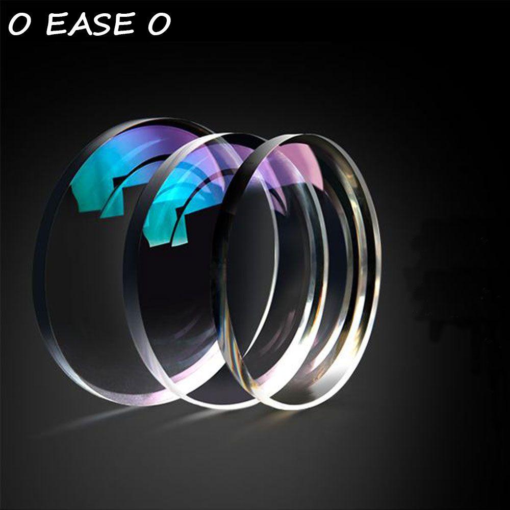 1.74 Ultra-Mince Simple Vision Lentilles Optiques Avec Protection UV Complète Anti-Reflet 2 pièces Lunettes de Prescription Lentille