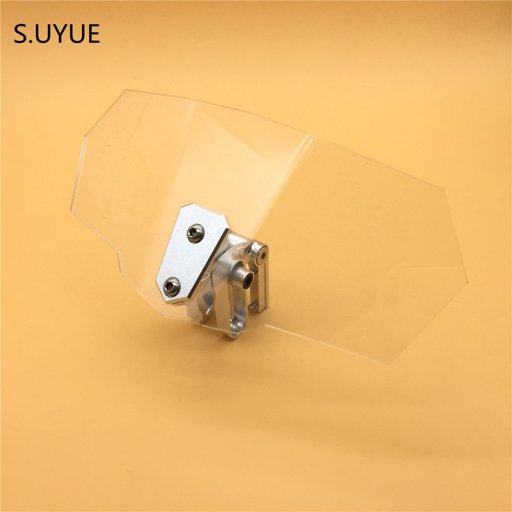 S.UYUE Motorcycle Risen Windshield Windscreen Bracket Set Screen Protector Adjustment Lockable for BMW R1200GS  F800GS Universal