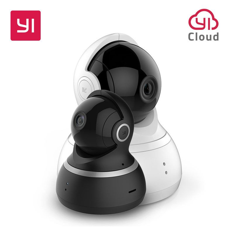 YI <font><b>Dome</b></font> Camera 1080p HD Indoor Pan/Tilt/Zoom Wireless IP Security Surveillance System with Night Vision Motion Tracking YI Cloud