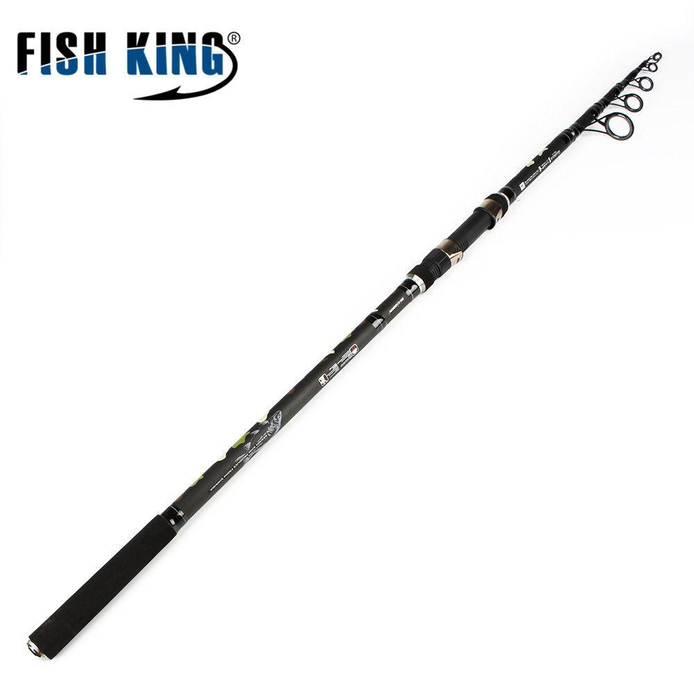 FISH KING High Quality 99% Carbon Standard 3.6M 3.9M 6 Secs C.W 3.0LBS Carp Fishing Rod Peche Pesca Tackle Outdoor Sports