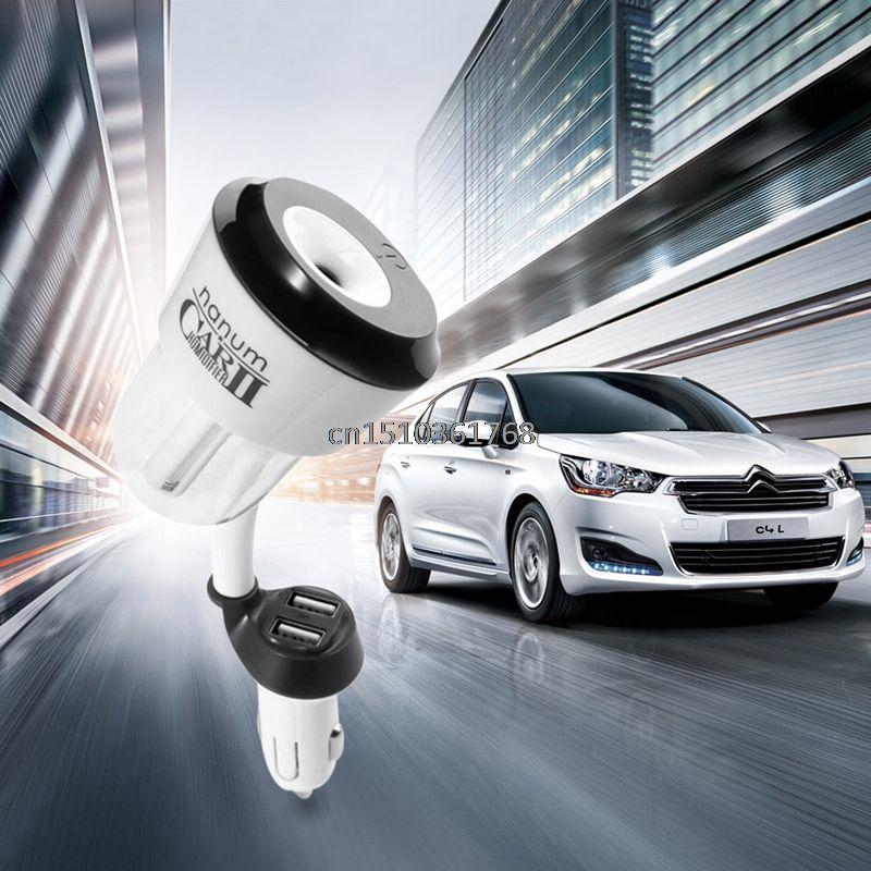 Durable Mini Car Humidifier Air Oil Aroma Mist Diffuser Purifier 1/2 USB Ports #Y05# #C05#