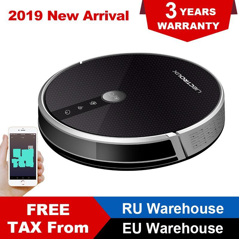 LIECTROUX C30B Roboter Staubsauger 3000Pa Saug 2D Karte Navigation Smart Memory WiFi App Elektrische Wasser Tank Nass Wischen