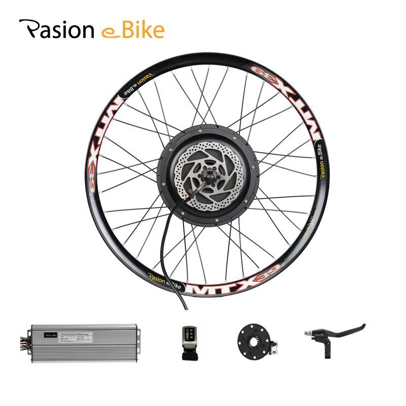 PASION E BIKE Conversion Kit 48V 1500W Motor Electric Bicycle Bike Conversion Kit for 26 Rear Wheel E Bike 48V Kit Hub Motor