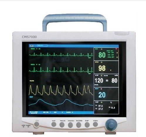 Kostenloser Versand CONTEC CMS7000 CE FDA TFT 12,1 Tragbare ICU Patienten Monitor Multi Parameter SPO2 + NIBP + PR + TEMP + RE