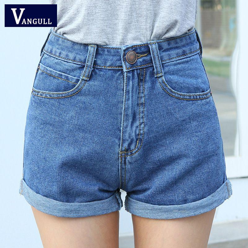 Taille haute Short En Jean Taille Plus XL Femme Jeans Courts pour les Femmes 2016 Dames D'été Shorts Chauds