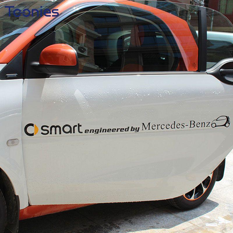 Smart Fortwo 453 451 450 voiture autocollant logo lettre voiture pull fleur autocollants voiture autocollants décalcomanie accessoires autocollants décoratifs
