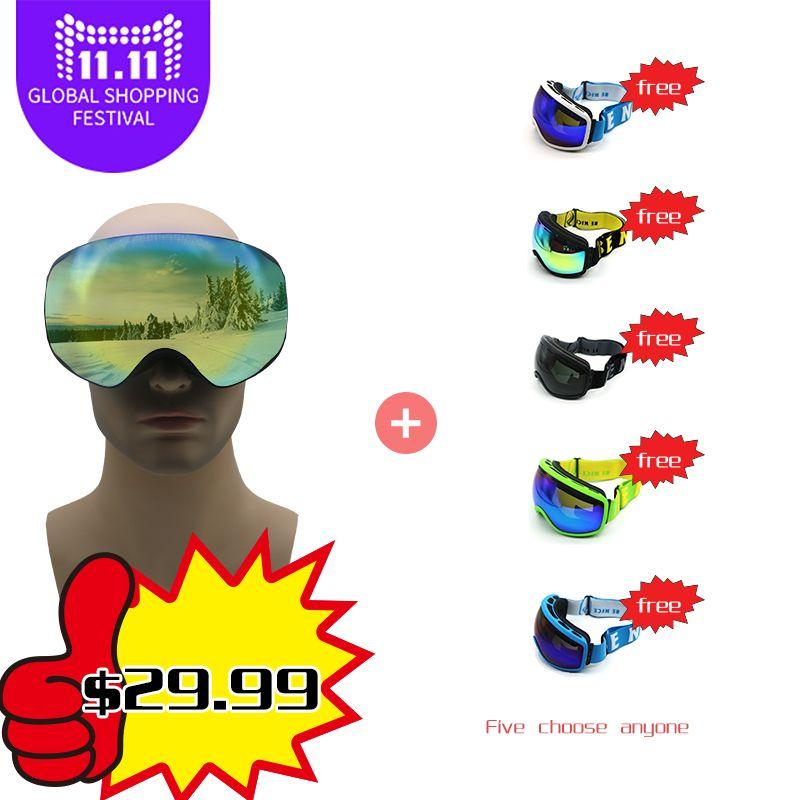 brand ski goggles double layers UV400 anti-fog big ski mask glasses skiing men women snow snowboard goggles