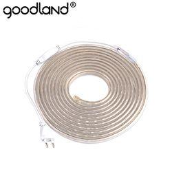 LED Strip Light Waterproof AC 220V SMD 5050 Flexible LED Diode Tape With EU Plug 60LEDs/m for Living Room Neon Ribbon