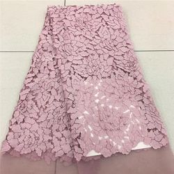 VILLIEA Pink Nigerian French Lace Fabrics 2018 African Tulle Lace Fabric High Quality African Lace Wedding Fabric For Dress