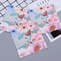 Vintage Besar Bunga Desain Serbet Kertas Cafe & Pesta Tissue Napkin Decoupage Dekorasi Kertas 33 Cm * 33 Cm 20 buah/Bungkus/Lot