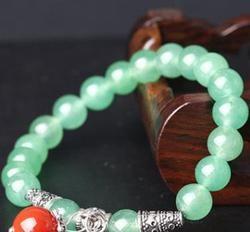 Cristal naturel dongling jade bracelet frais cristal agate bracelet en pierre de l'or.