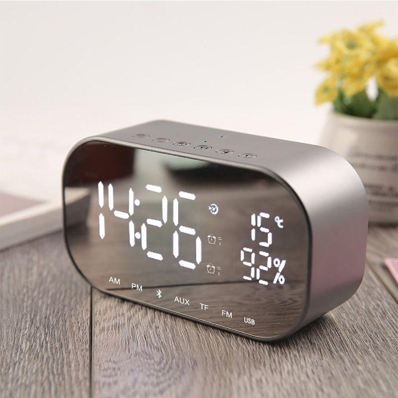EAAGD LED réveil avec Radio FM sans fil Bluetooth haut-parleur soutien Aux TF USB lecteur de musique sans fil pour bureau chambre