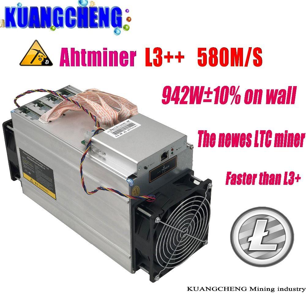 KUANGCHENG ASIC Chip Miner ANTMINER L3++ 580M (NO PSU) Scrypt Miner LTC Litecion Mining Machine Better Than ANTMINER L3+